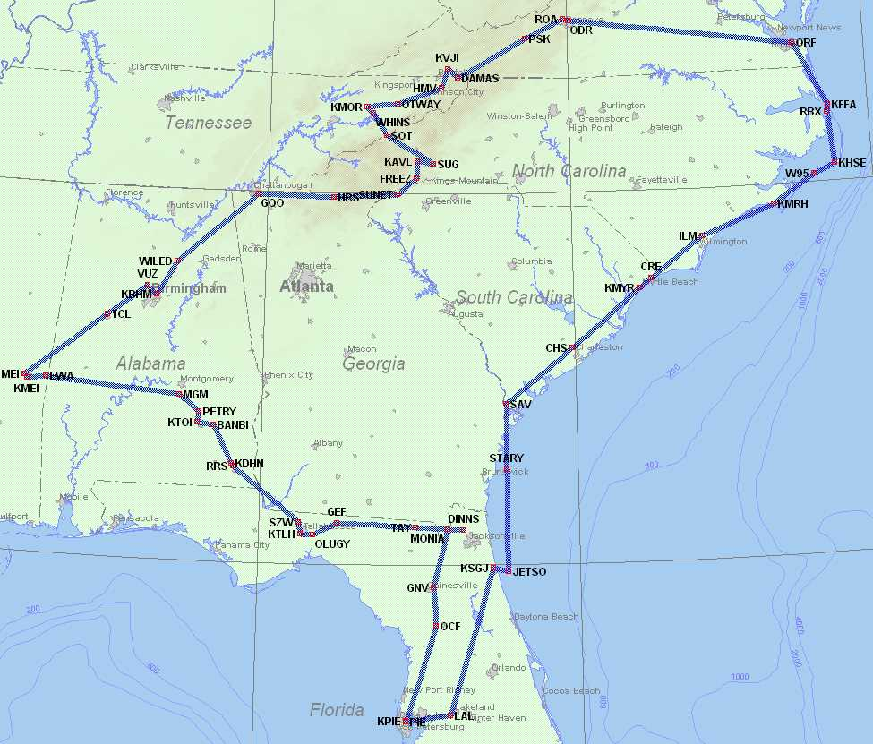 Map of Don's IFR Adventure Trip #28