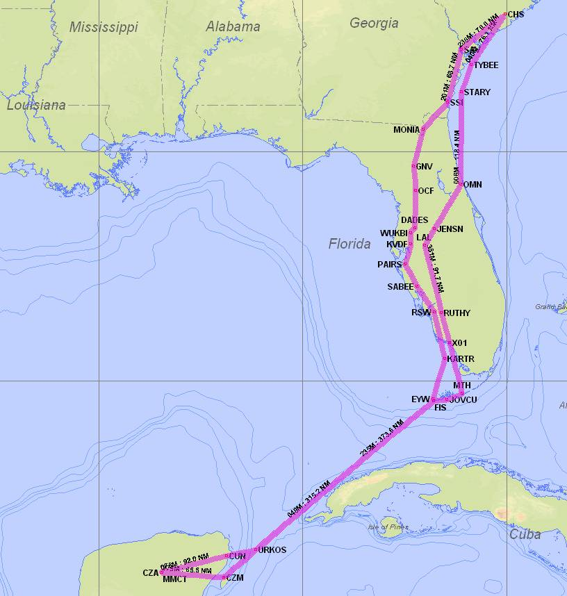 Map of IFR Adventure Trip #45