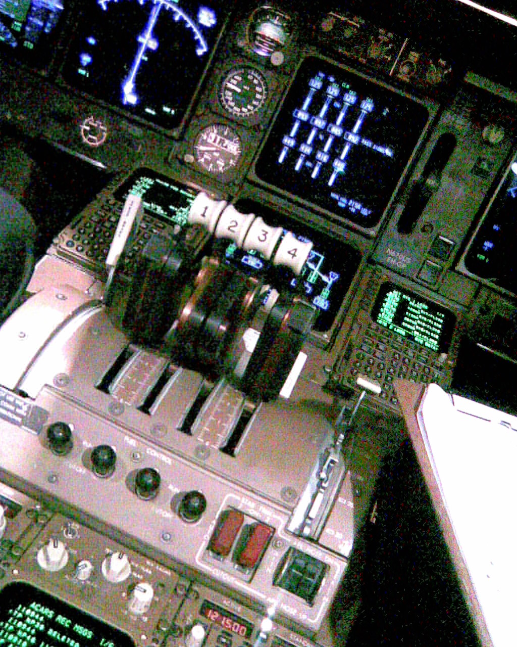 747-400 throttle quadrant